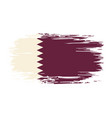 qatari flag brush grunge background vector image vector image