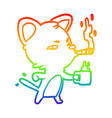 rainbow gradient line drawing serious business vector image vector image