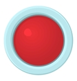 Red stop and panic button icon cartoon style vector image vector image