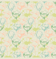 Retro soft floral seamless pattern