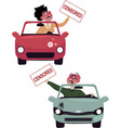 Road rage characters vector image vector image
