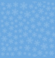 seamless art pattern with snowflakes on blue vector image vector image