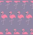 seamless pattern flamingo exotic tropical bird vector image vector image