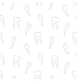 seamless teeth pattern on white background vector image vector image