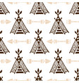 seamless wigwam pattern with arrows hand-drawn vector image vector image