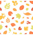 seasonal seamless pattern with fallen autumn vector image vector image