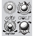 set patterns badges for golf vector image vector image