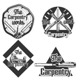 set vintage carpentry emblems vector image