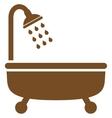 Shower Bath Flat Symbol vector image