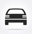 simple car icon silhouette vector image