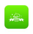 sleeping icon green vector image vector image