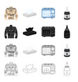 tattoo drawing box and other web icon in vector image