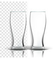 transparent glass purity symbol empty vector image vector image
