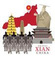 Travel Xian China vector image vector image
