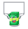 up board stack money shape cartoon on table vector image