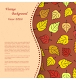 Vintage background with autumn leafs vector image