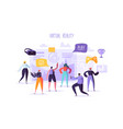 virtual reality concept flat people characters vector image vector image