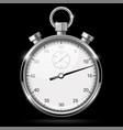 stop watch 3d on black vector image