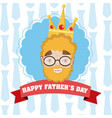 happy fathers day funny cartoons vector image