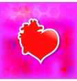 Red valentine heart Love concept vector image