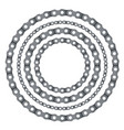 motorcycle chain round frames vector image