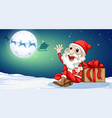 a santa claus themplate vector image vector image