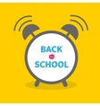 Alarm clock with chalk text Back to school Flat vector image vector image