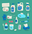 anticoronavirus set life saving items vector image