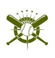 Baseball championship icon or emblem vector image vector image