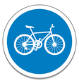 Bicycle sign vector image vector image