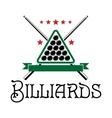 Billiards club emblem vector image