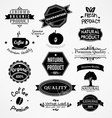 Black and White Bakery Icon Set vector image vector image