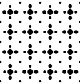 Black and white cross polka dot seamless pattern vector image vector image