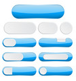 blue interface buttons web icons vector image vector image