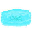 blue real watercolor stain background vector image vector image