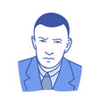 businessman male avatar man tie blue portrait vector image