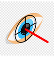 check pupil of eye isometric icon vector image