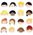 children face copy vector image