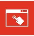 Click icon design Click symbol web vector image