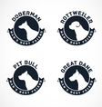 Collection of Dog Silhouette Badges vector image vector image