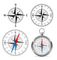compass wind roses vector image vector image