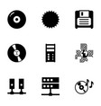 disk icons vector image vector image