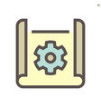 engineering drawing concept icon design on white vector image vector image