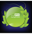 Environmental label vector image vector image