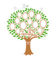 family tree generation genealogical tree with vector image vector image