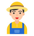 farmer icon profession and job vector image vector image