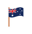 flag in pole emblem australia icon on white vector image
