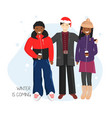 flat group friends vector image vector image