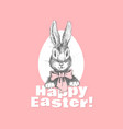 funny easter bunny vector image vector image
