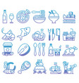 gradient line set of flat icons and vector image